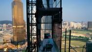"""Liang Juhui – """"One Hour Game"""" Skyscraper Construction Site, Tianhe, Guangzhou,"""